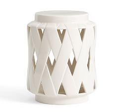 Lattice Ceramic Accent Table