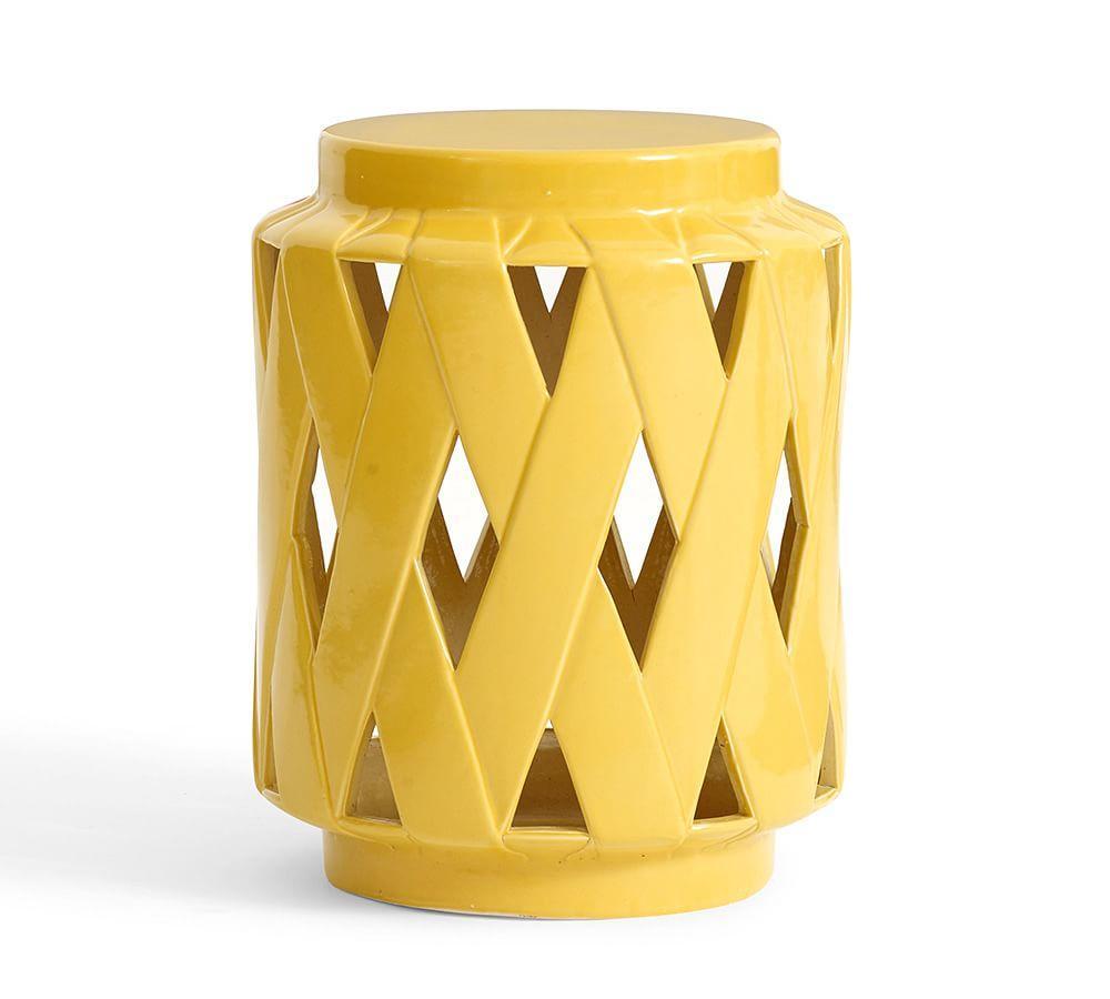 Lattice Ceramic Accent Table Pottery Barn Au