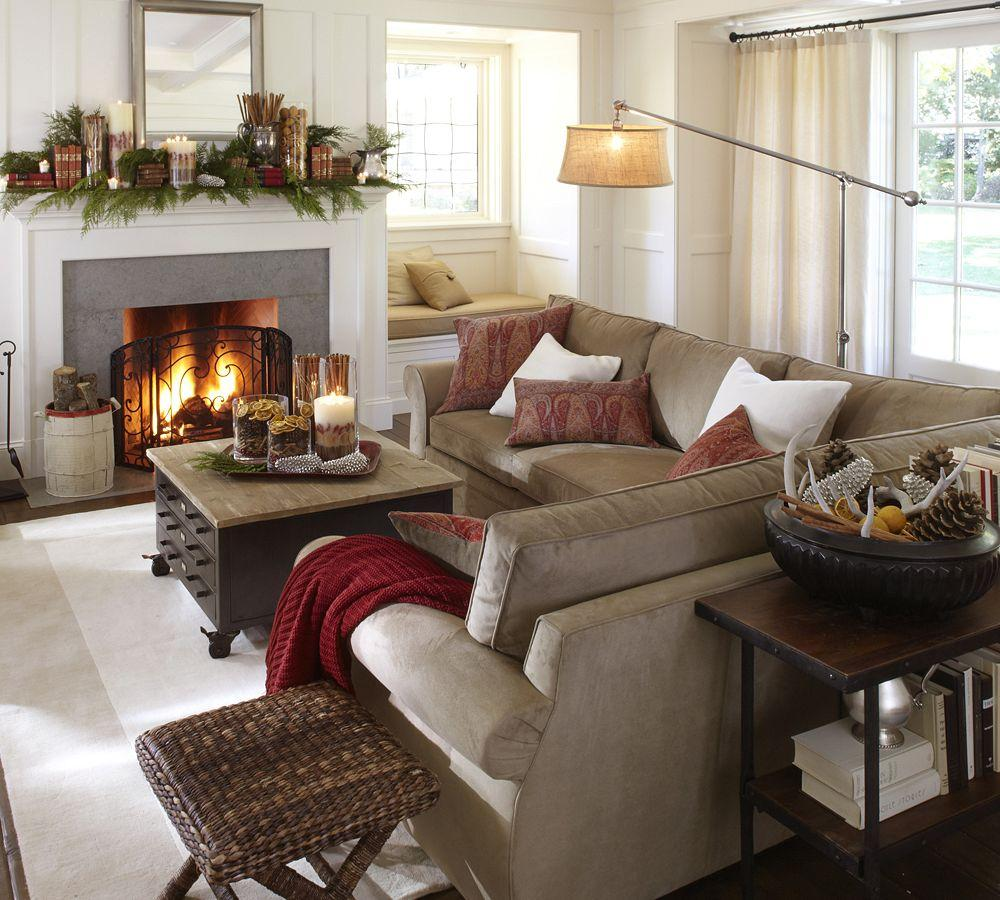 Pottery Barn Living Room With Carpet And Decorative Plant: Pottery Barn AU