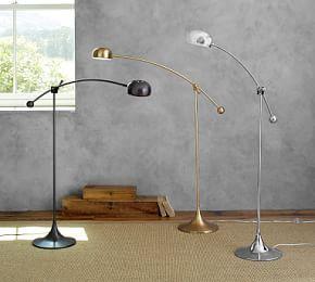 Floor lamps standing lamps floor standing lamps pottery barn larkin led task floor lamp aloadofball Image collections