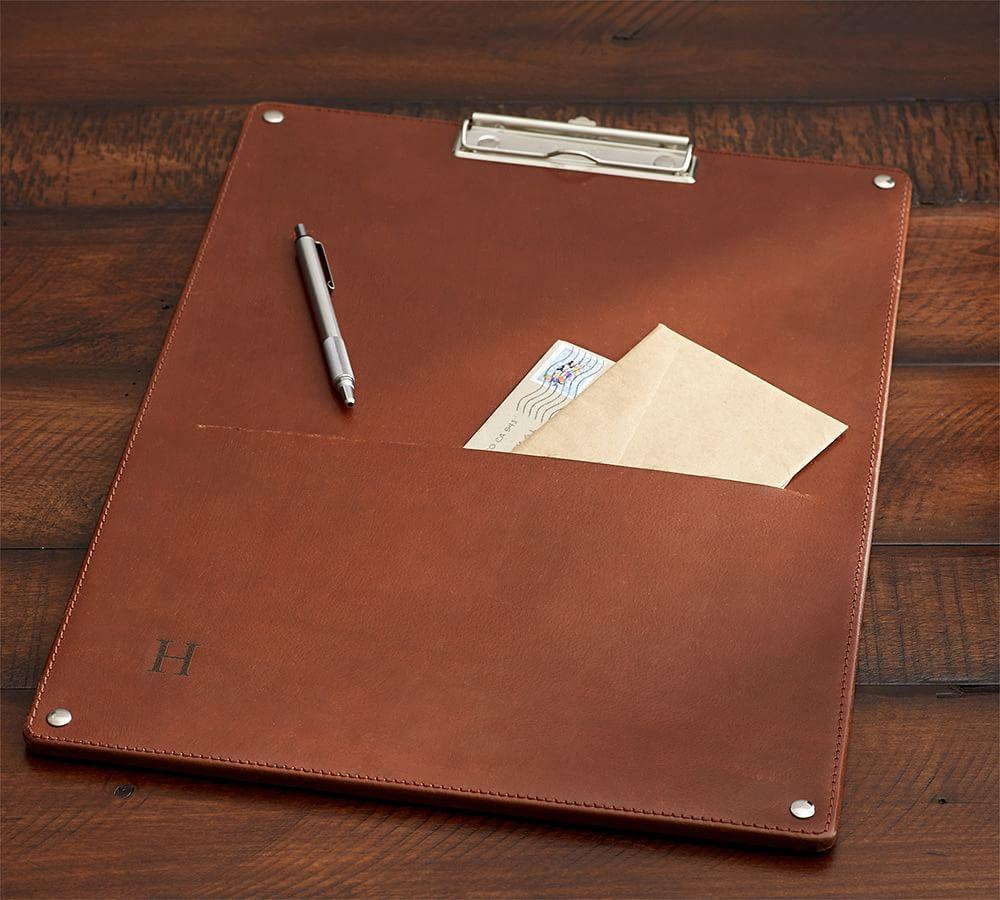 Drake Leather Oversized Clipboard Pottery Barn Au