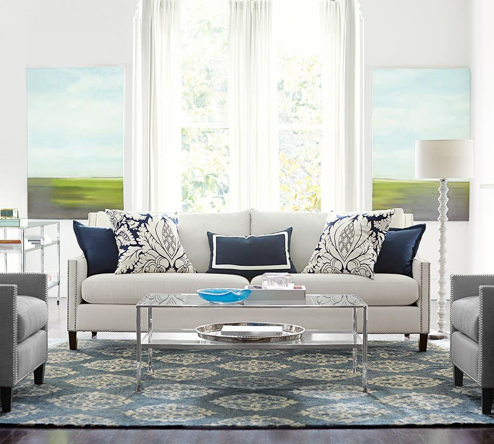 Empire Scroll Rug Indigo Pottery Barn Au