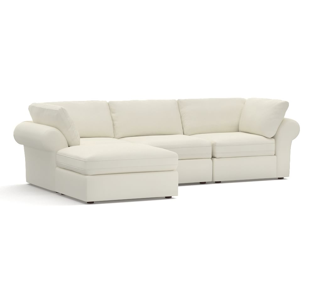 Pb air upholstered 4 piece chaise sectional pottery barn au for 4 piece sectional sofa with chaise
