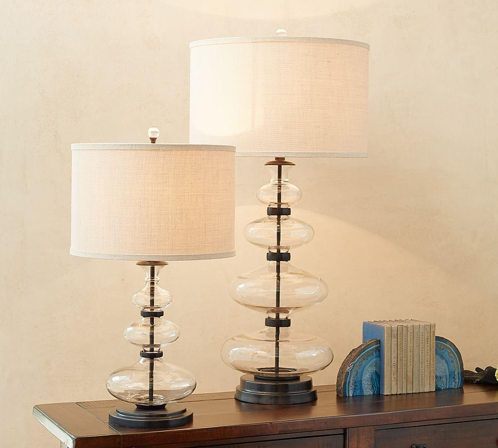 Estelle Stacked Glass Table Lamp Base Pottery Barn Au