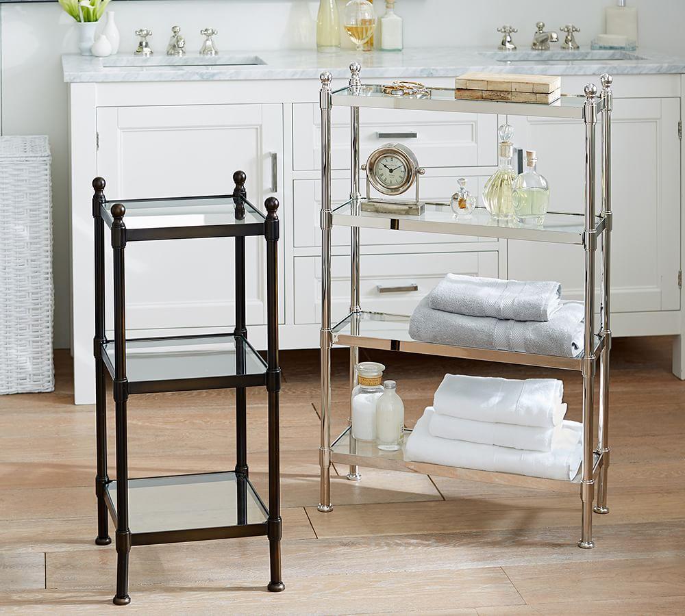 metal etagere pottery barn au. Black Bedroom Furniture Sets. Home Design Ideas