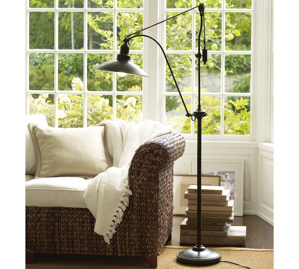 Pottery Barn Atticus Lamp: Glendale Pulley Task Floor Lamp