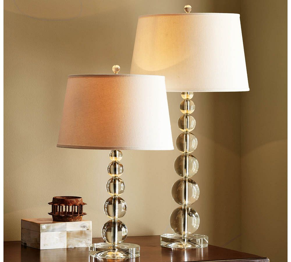 Stacked Crystal Table Amp Bedside Lamp Base