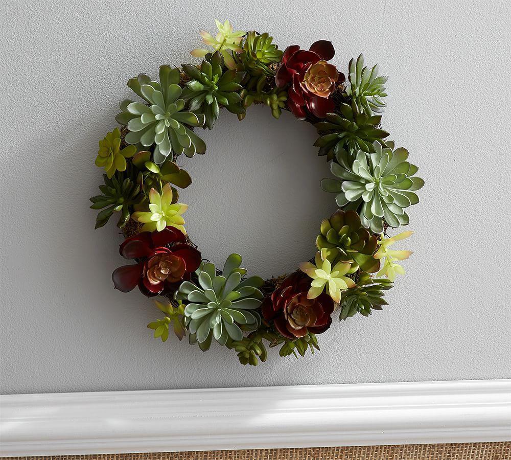 Faux Succulent Wreath Pottery Barn Au