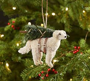 Bottle Brush Pig With Angel Wings Ornament Pottery Barn Au