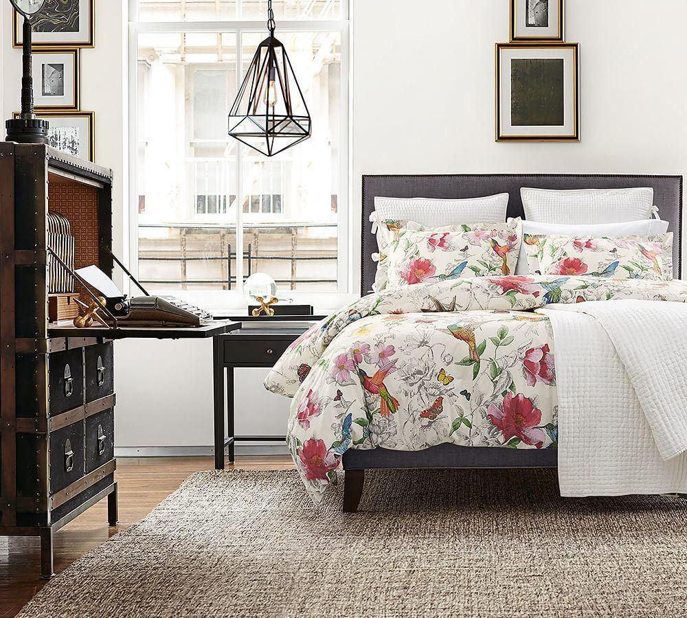 Fillmore Square Upholstered Bed Amp Headboard Pottery Barn Au