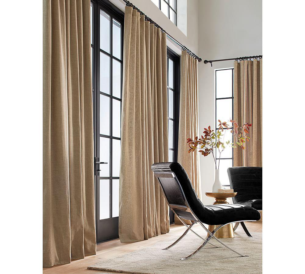 Pottery barn silk curtains - Emery Linen Cotton Curtain