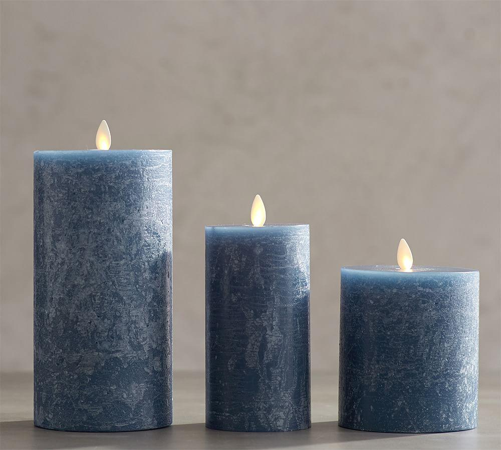 Premium Flickering Flameless Candles Blue Pottery Barn Au