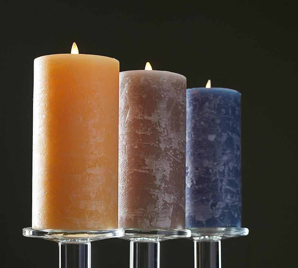 Premium Flickering Flameless Candles, Blue | Pottery Barn AU