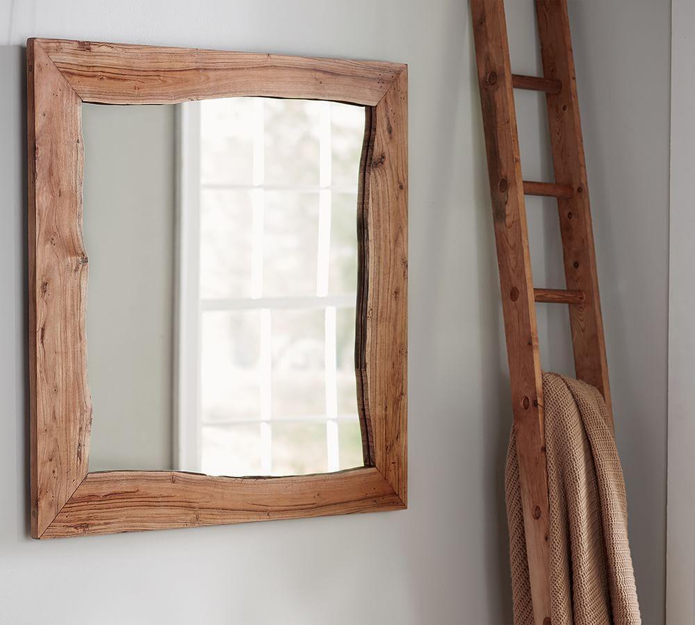 Live Edge Wood Mirror Pottery Barn Au