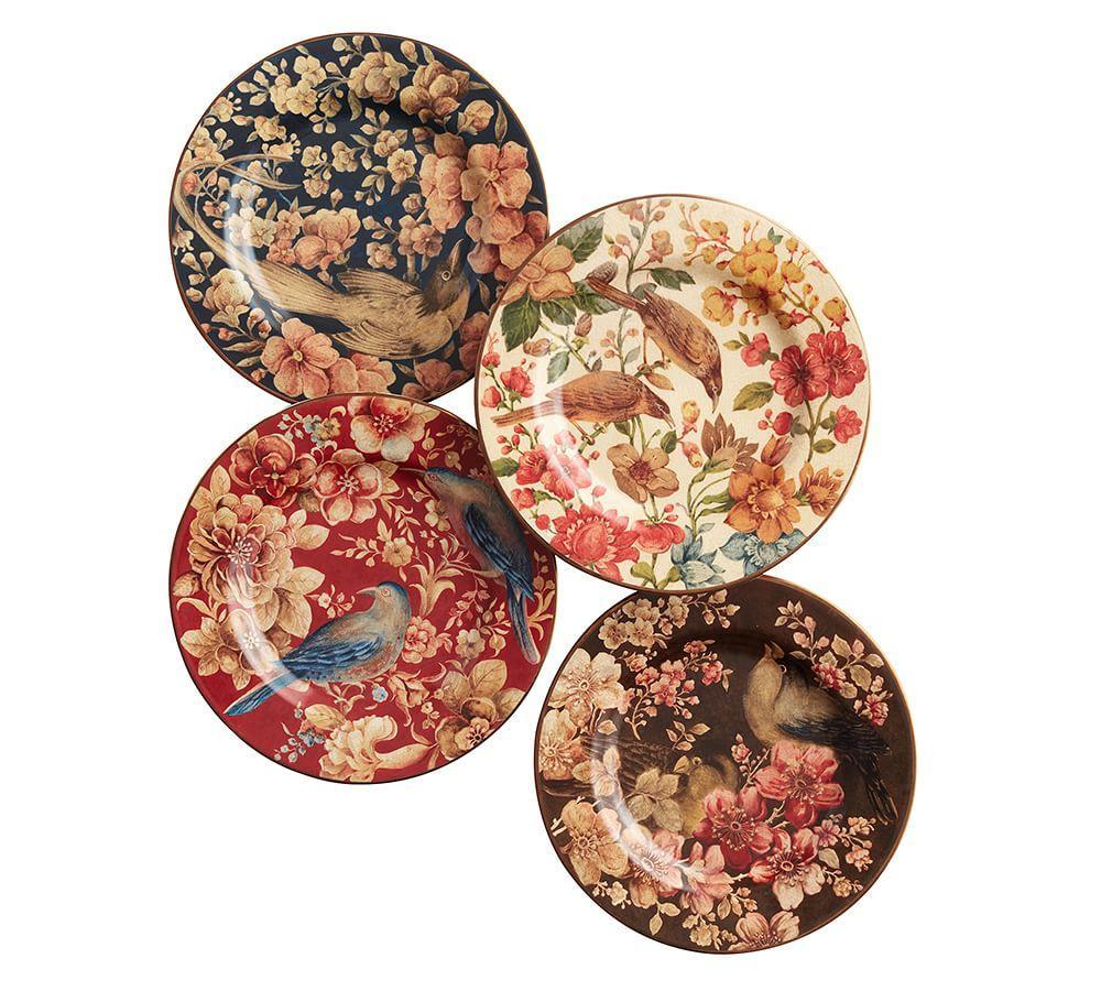 Sabyasachi Salad Plate Floral Bird Pottery Barn Au