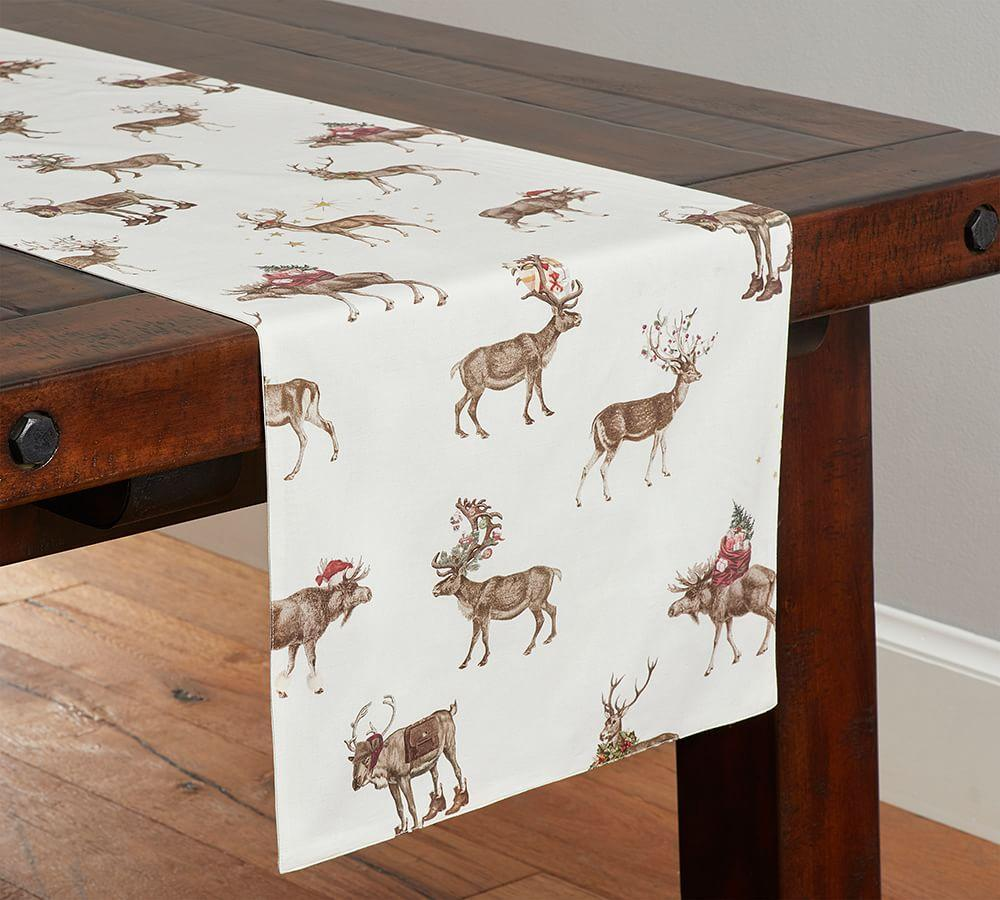 Silly Stag Table Runner Pottery Barn Au