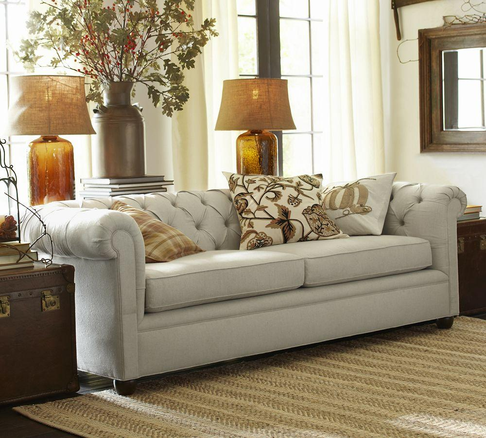 Does Pottery Barn Have Furniture In Stock: Chesterfield Upholstered Sofa