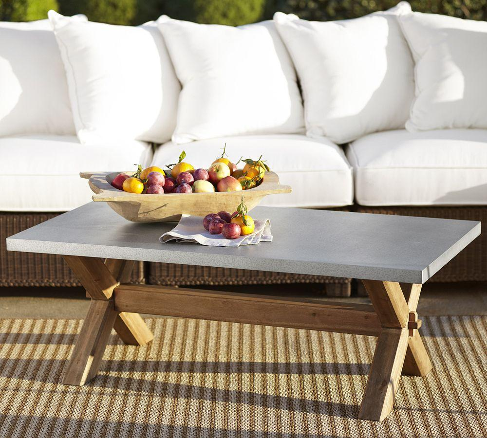 Abbott Zinc Top Rectangular Coffee Table