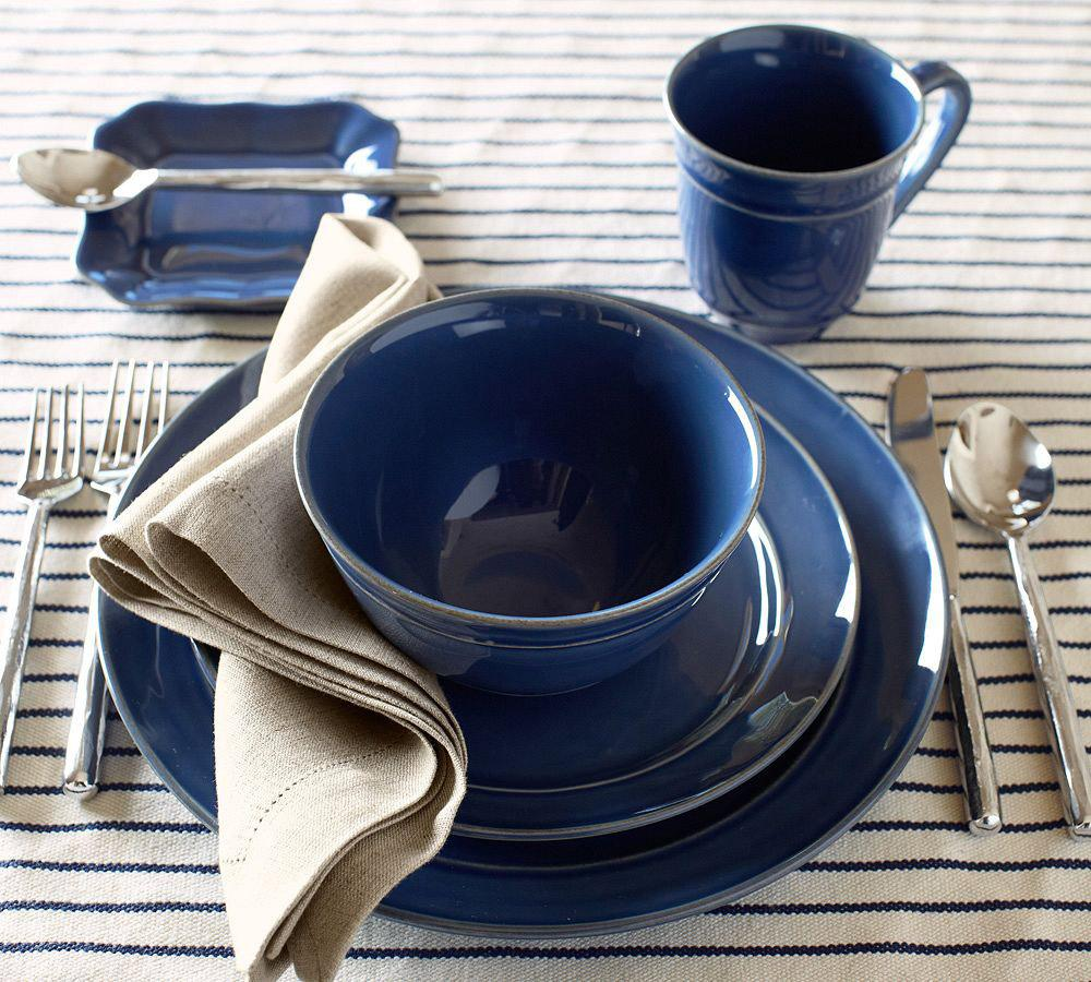 Pottery Barn Blue Kitchen Set: Cambria Dinnerware - Ocean
