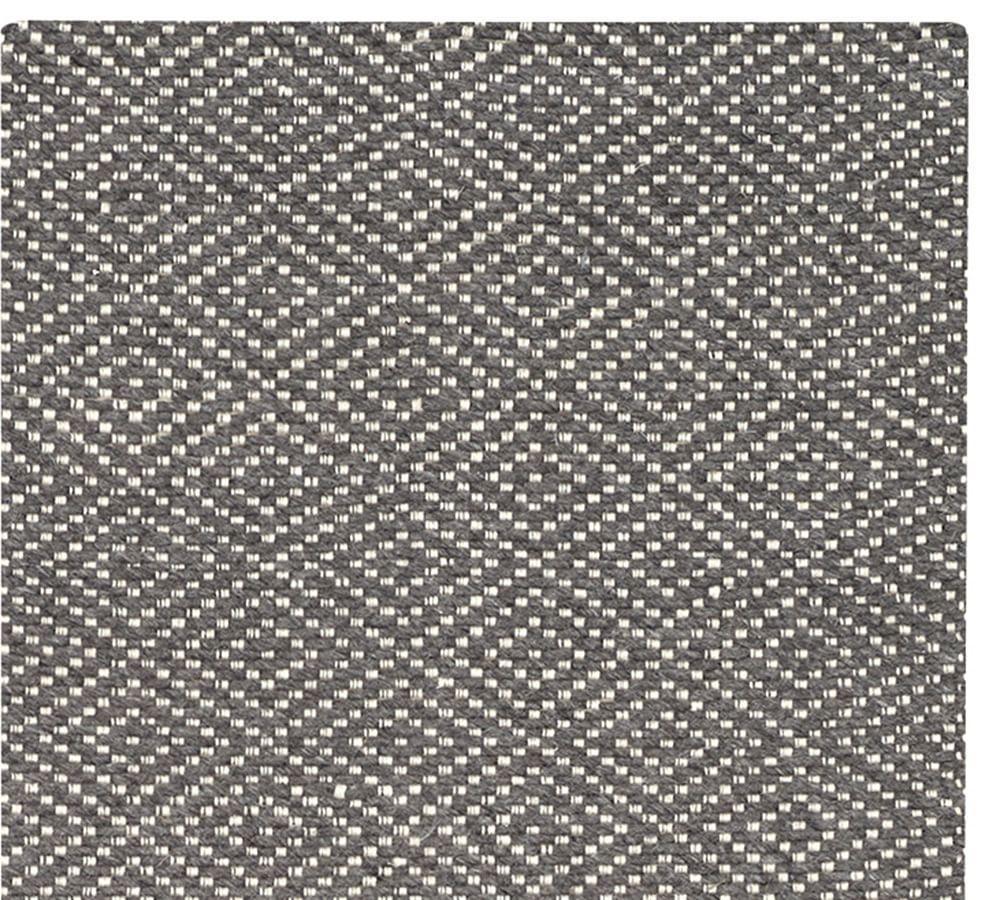 Diamond Wrapped Jute Rug Grey Pottery Barn AU