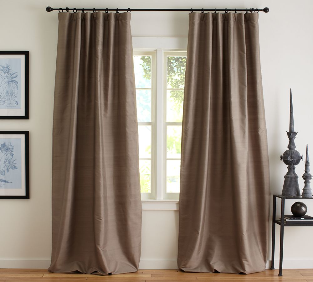 Pottery barn silk curtains -  Dupioni Silk Curtain