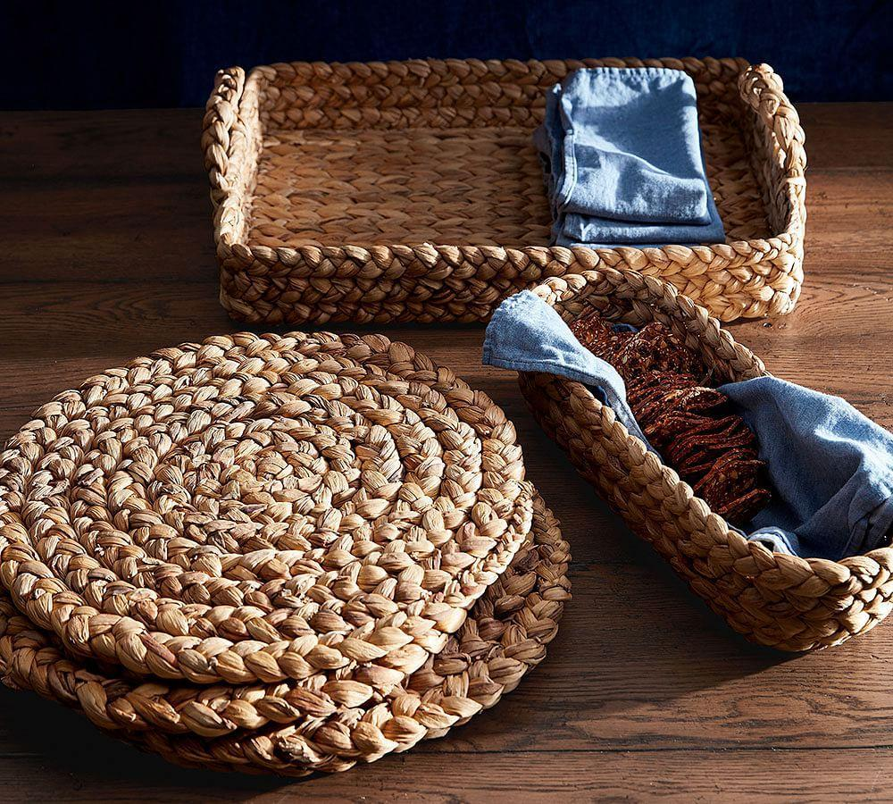 Water Hyacinth Bread Basket Pottery Barn Au