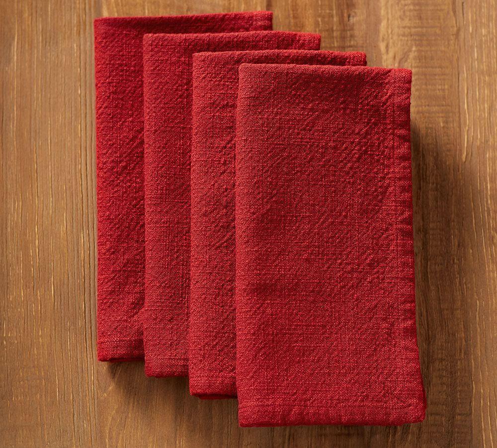 Cotton Casual Napkin - Cardinal Red