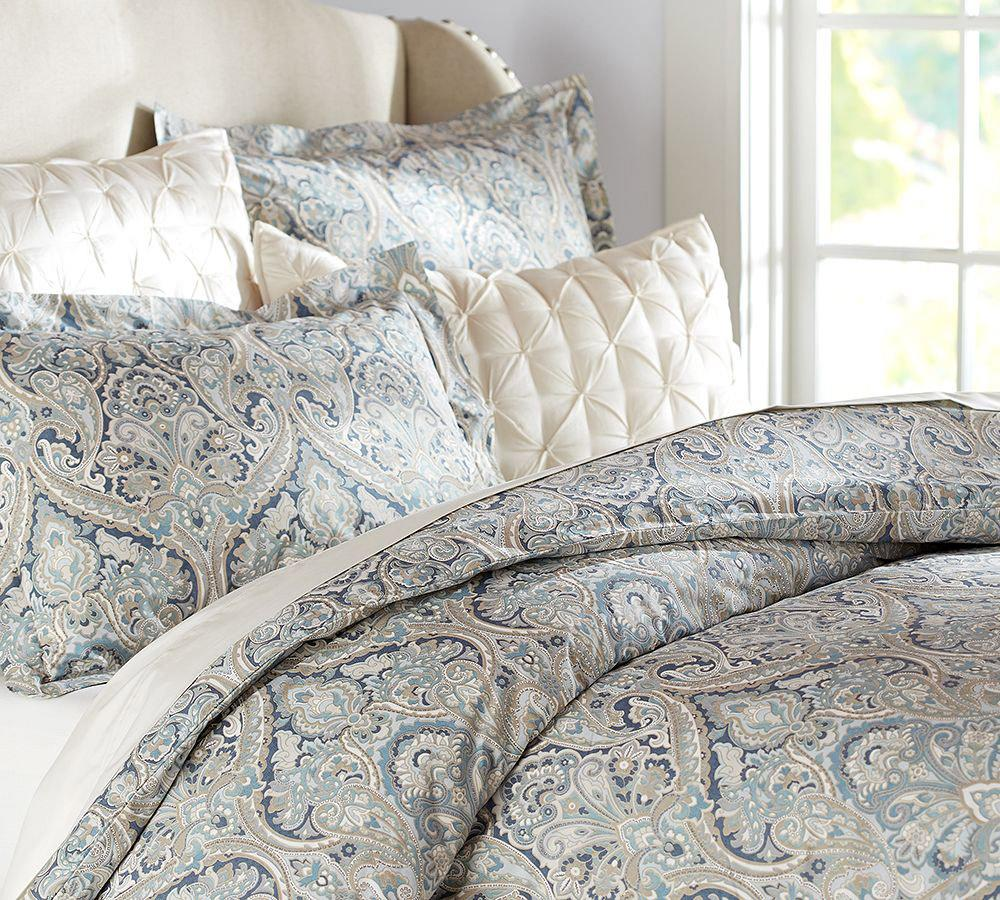 Mackenna Paisley Quilt Cover Amp Pillowcase Blue