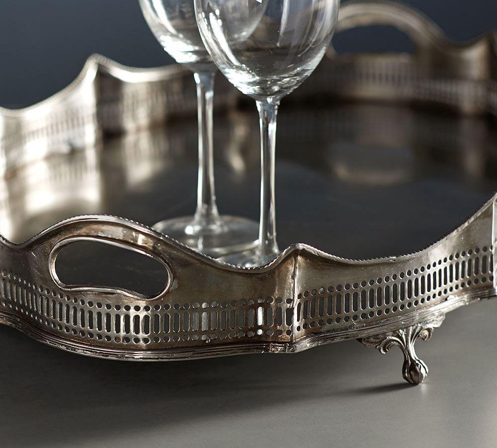 Antique Silver Butler Tray
