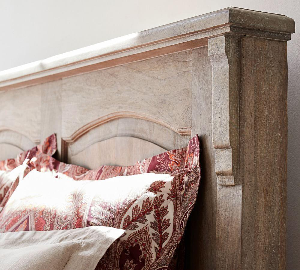 Linden Wood Panelled Bed Pottery Barn Au