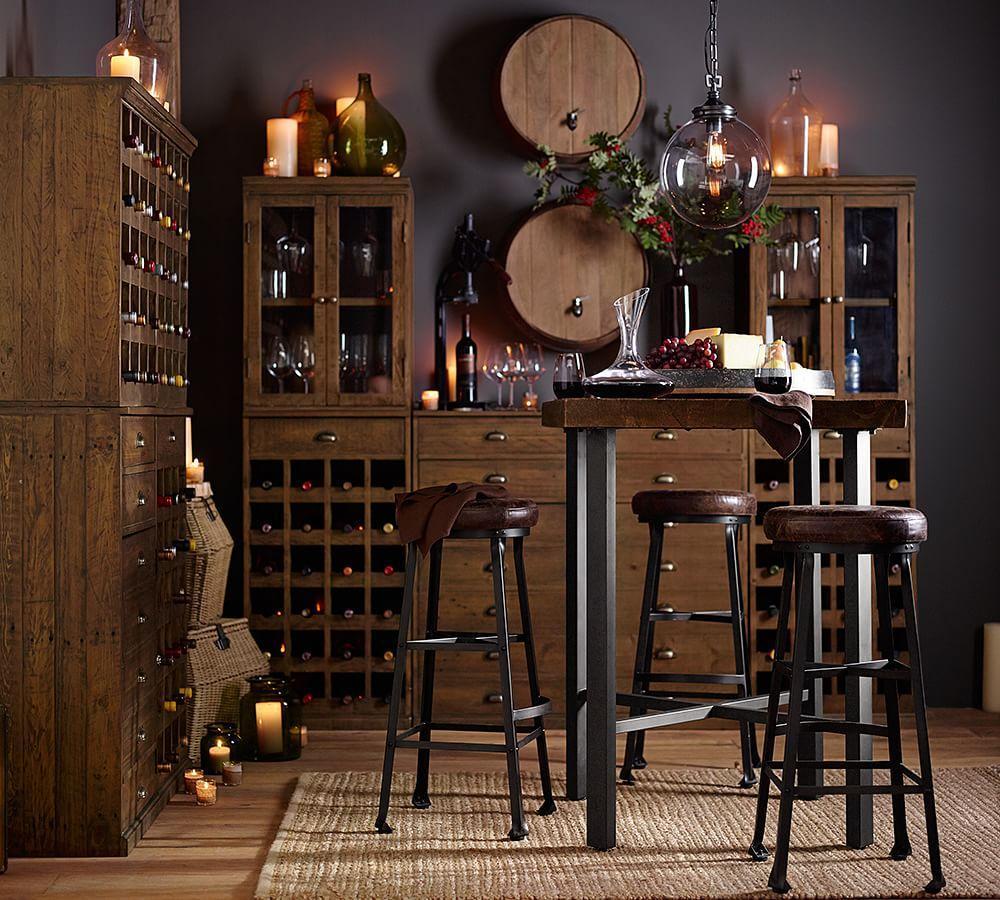 Griffin Reclaimed Wood Bar Height Table Pottery Barn AU