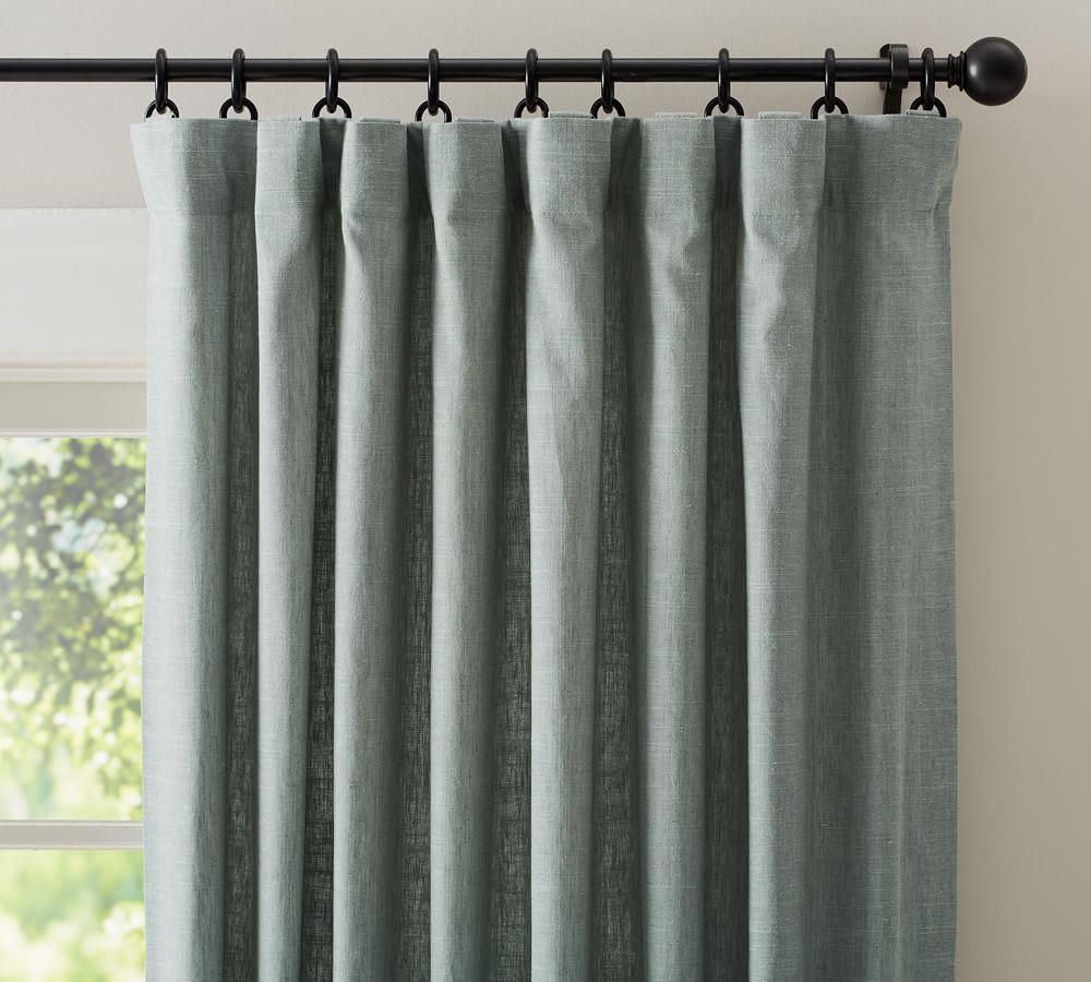 Emery Linen/Cotton Curtain - Blue Dawn