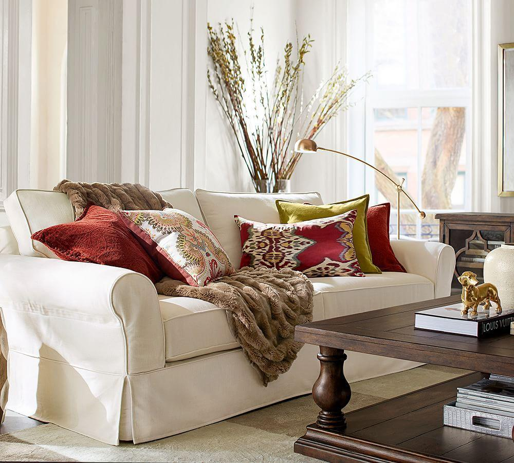 Pottery Barn Slipcovers: PB Comfort Roll Arm Slipcovered Sofa