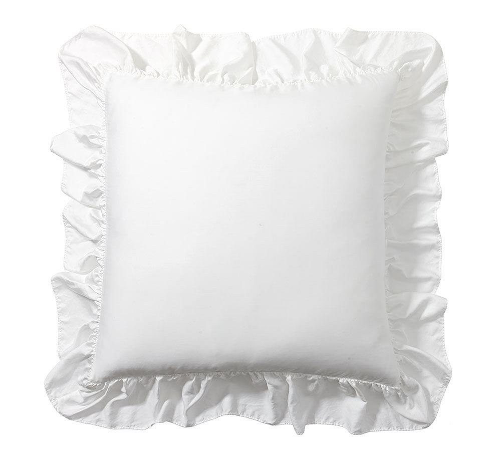 Tencel® Ruffle Quilt Cover & Pillowcase - White