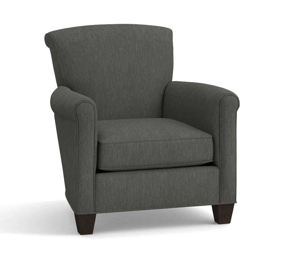 Irving Upholstered Armchair Slate Pottery Barn Au