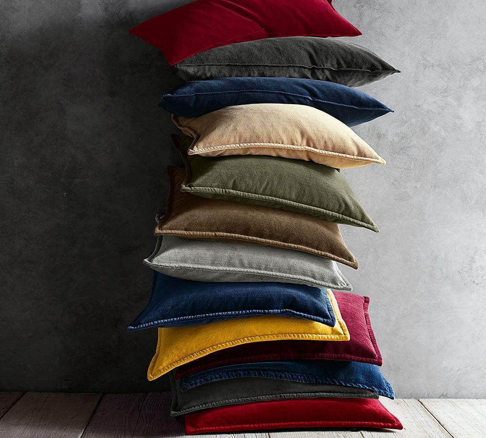 Washed Velvet Cushion Cover Pottery Barn Au