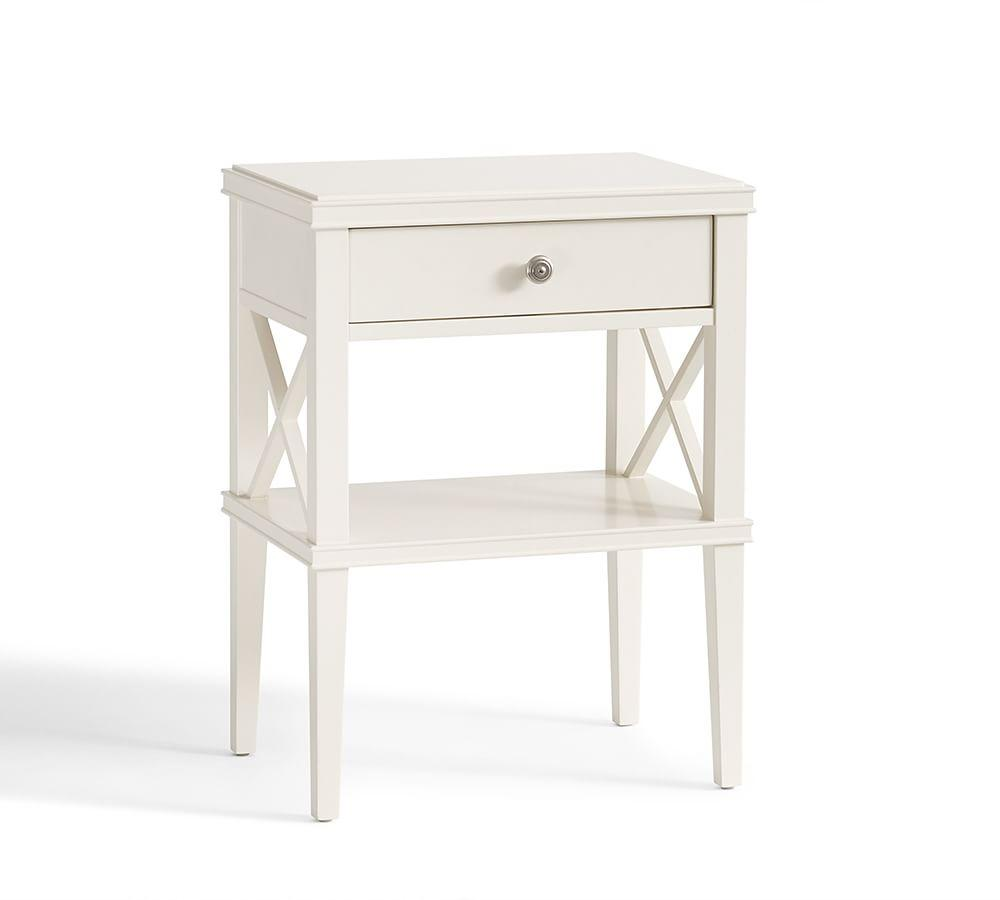 Clara Lattice Narrow Bedside Table Pottery Barn AU