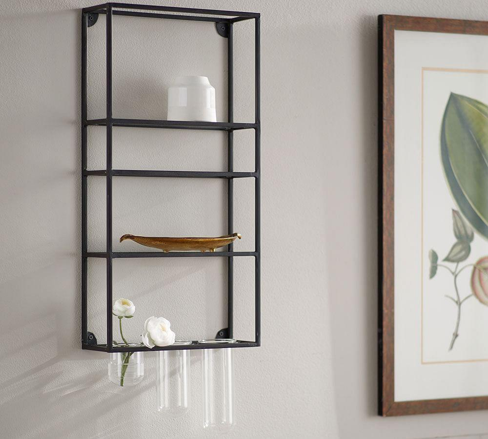 Wall Shelf Unit With Multi Glass Rack Pottery Barn Au