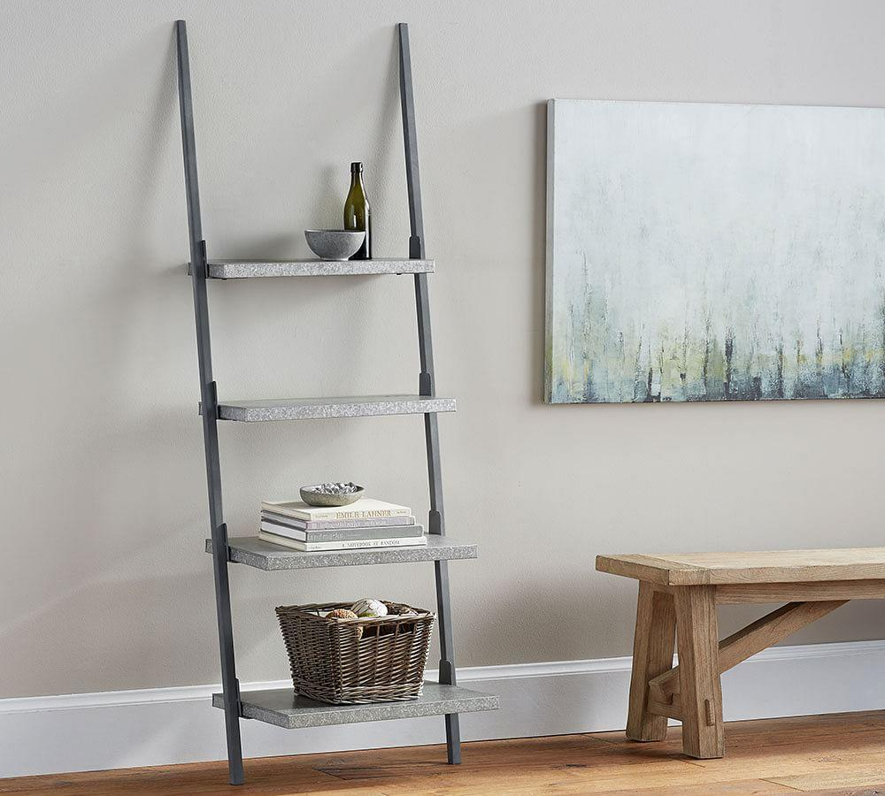 Walton Galvanised Ladder Shelf; Walton Galvanised Ladder Shelf