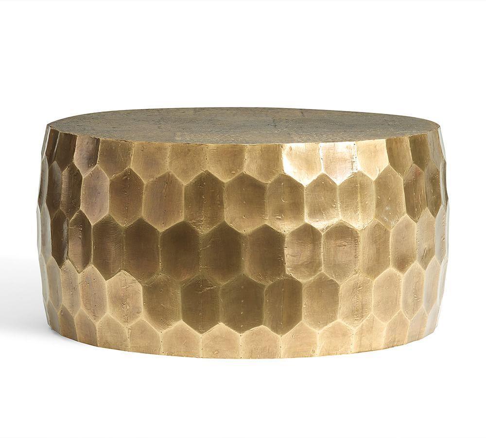Vince Metal Clad Coffee Table Pottery Barn Au