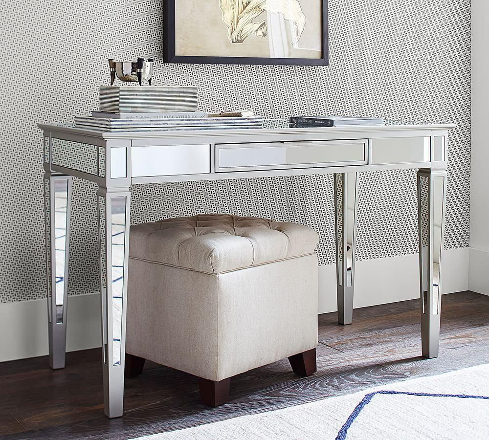 Pottery Barn Mirrored Furniture: Park Mirrored Desk