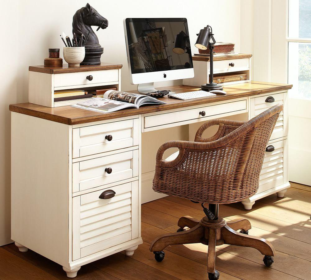 Whitney rectangular desk pottery barn au - Pottery barn office desk ...