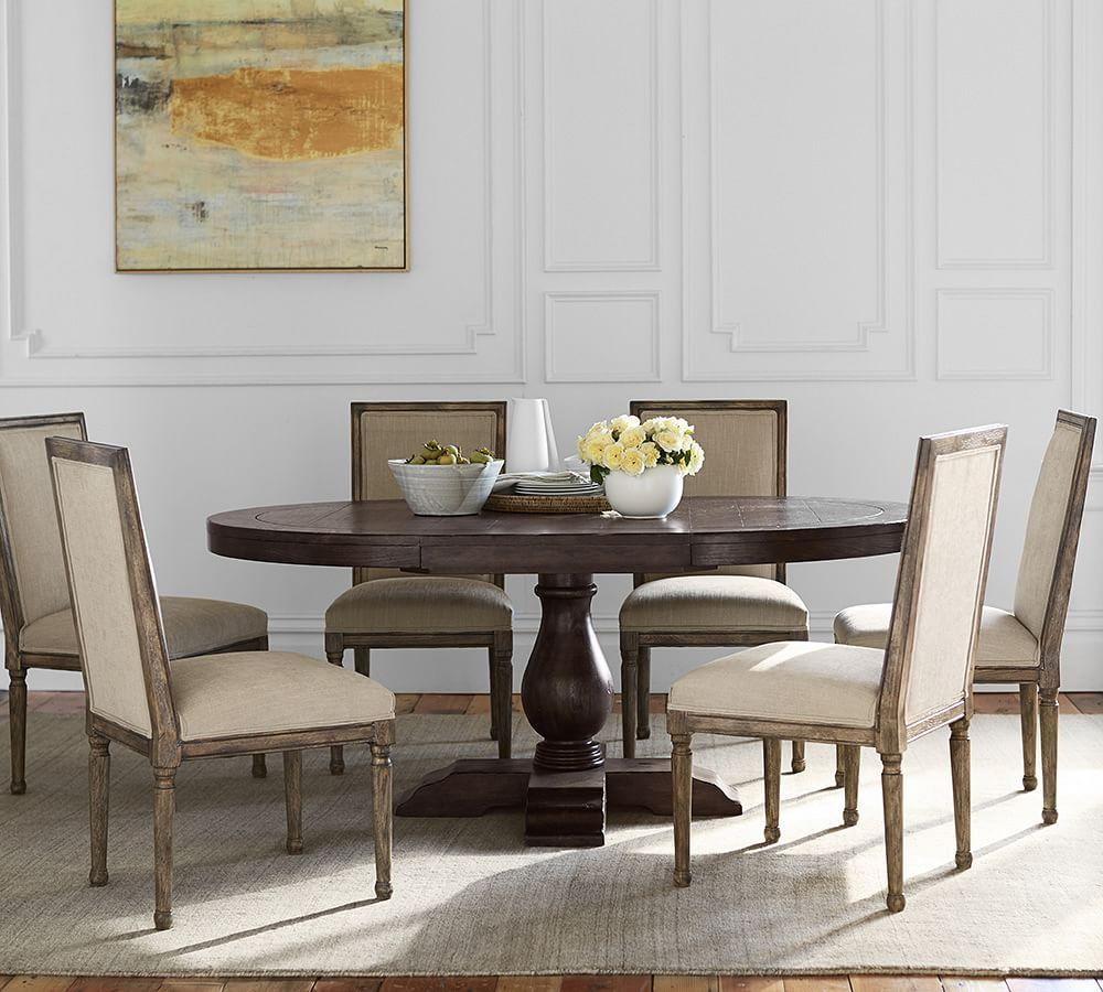 Lorraine Round Table Hewn Oak Pottery Barn Au