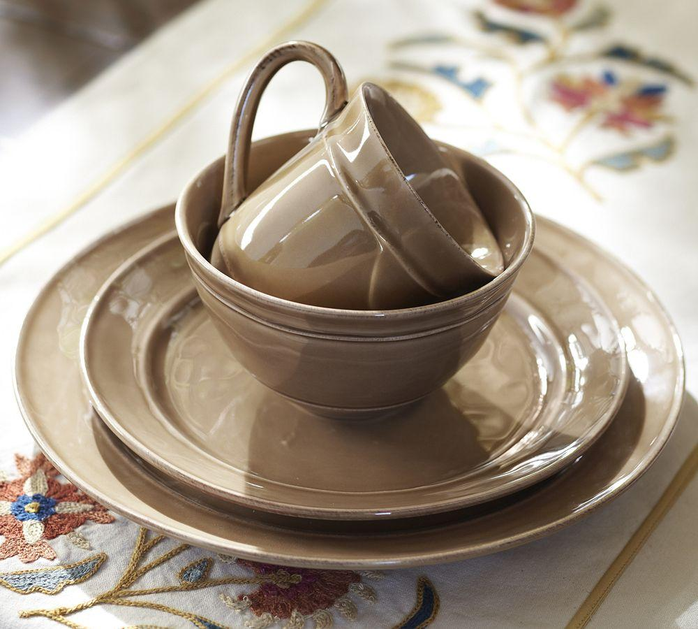 Cambria Dinnerware Mushroom Pottery Barn Au