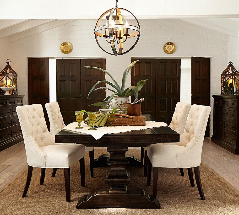 Pottery Barn Dining Room Set: Hayes Tufted Chair