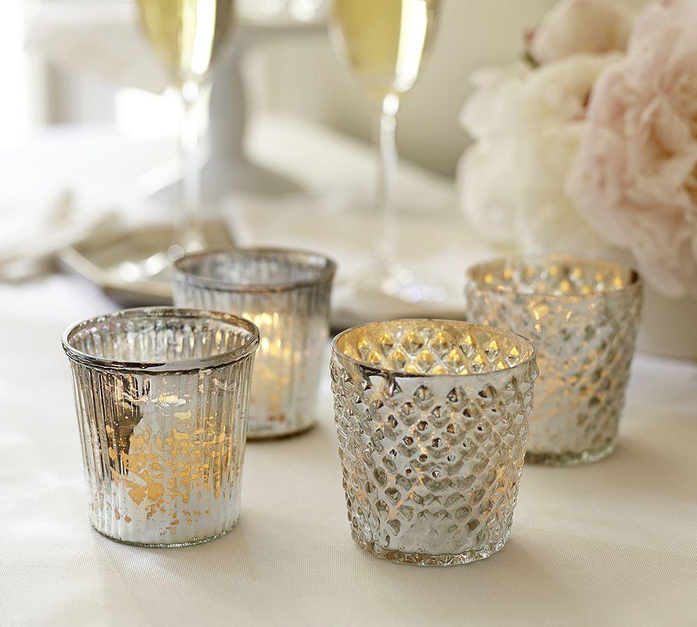 Mercury Glass Votive Cups