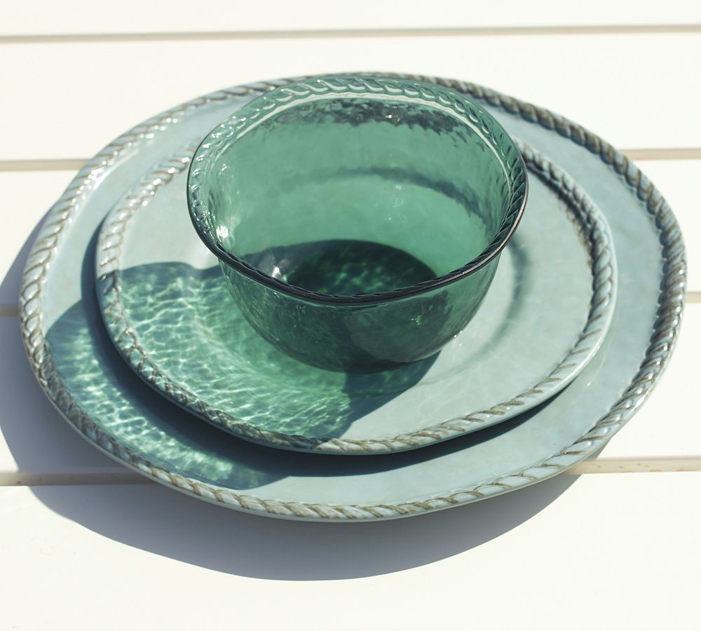 Rope Outdoor Dinnerware Turquoise Pottery Barn AU