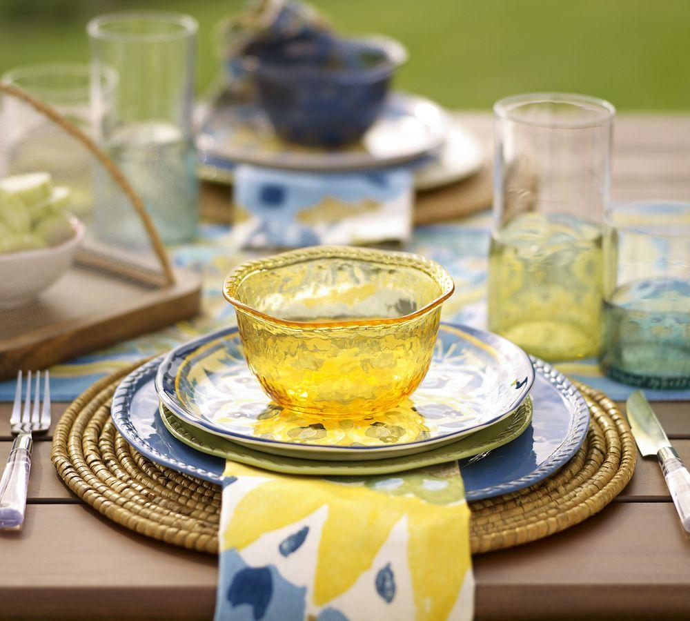 Rope Outdoor Dinnerware Yellow