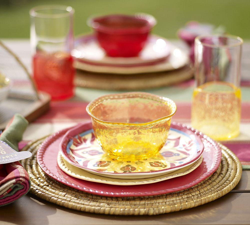 Outdoor Dinnerware, Yellow