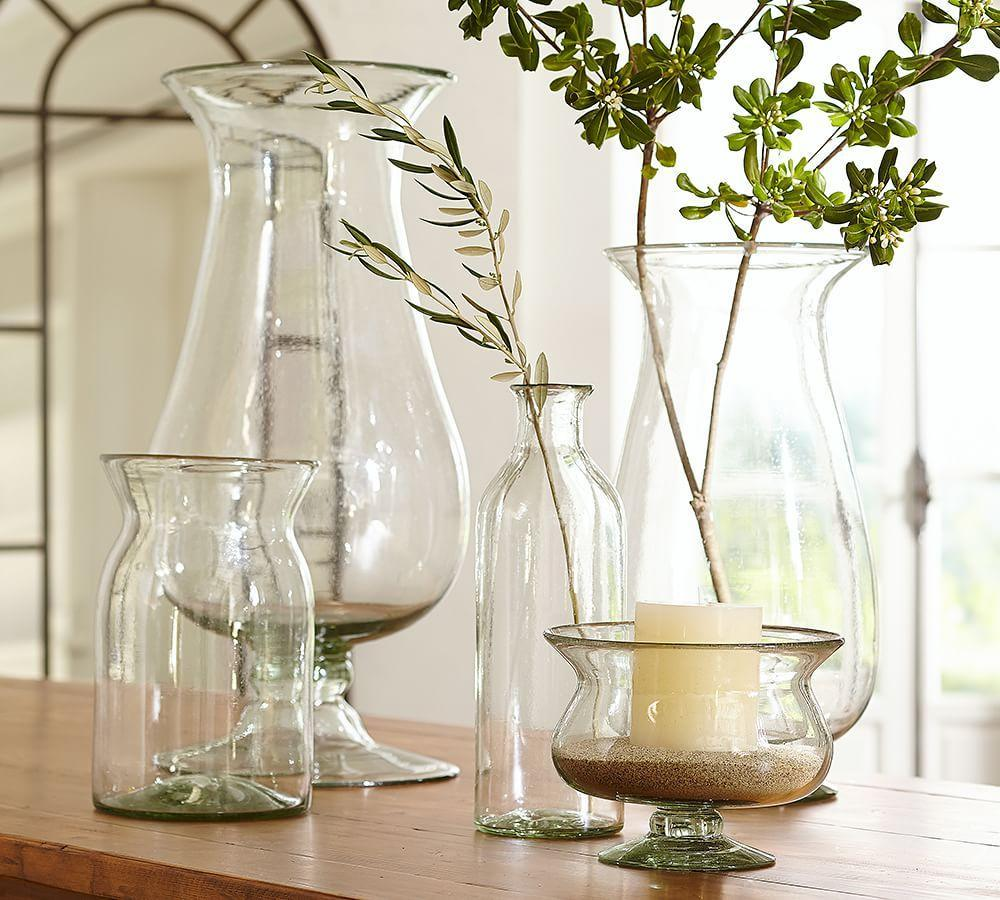 Recycled clear glass vases pottery barn au for Decoration vase